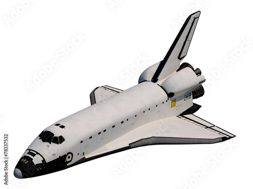 Leinwanddruck Bild Space Shuttle. Orbiter