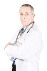 Male doctor with folded arms