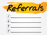 Referrals Blank List, vector concept background