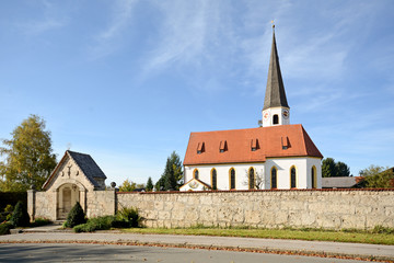 Upper Bavaria Germany: Parish Church of St George in Otterfing