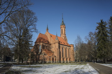 The Church of the virgin Mary in Druskininkai