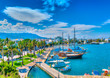 Leinwanddruck Bild - The main port of Kos island in Greece. HDR processed