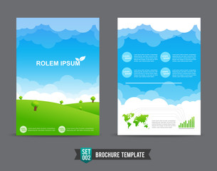 Flyer Brochure background template 0002