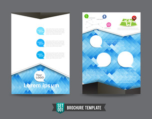 Flyer Brochure background template 0001