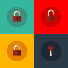 Set of vector padlocks icons