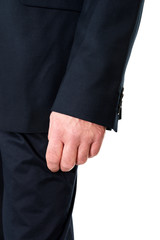 Close up on businessman hand