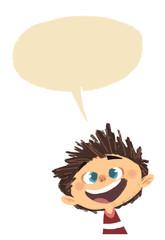 niño hablando con bocadillo