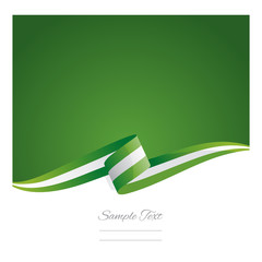New abstract Nigeria flag ribbon