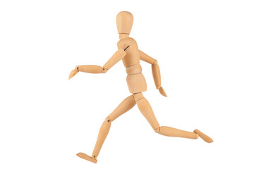 Running Manikin Figure isolated on White