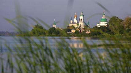 View of Spaso-Yakovlevsky Monastery in Rostov Veliky from Nero's