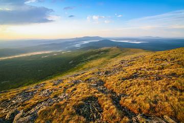 Mount Nurgush top Ural Russia