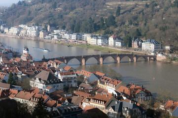 Bridge on the River Neckar in Heidelberg