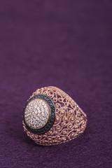 authentic ornanment motif woman ring