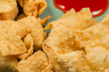 Fried Wontons Sweet and Sour 1