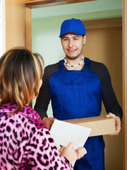 Courier brought package to girl