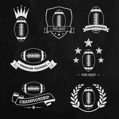 American football chalk