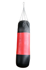 Punching bag for boxing isolated