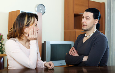 couple having serious talking