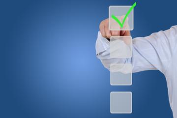 Businessman beim wählen, auswählen Organisation, Business