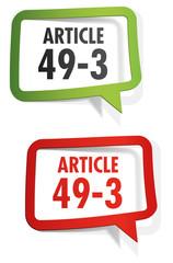 article 49-3 de la constitution