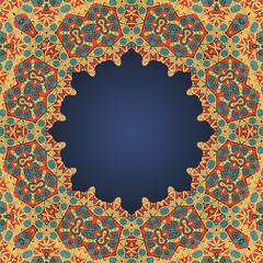 Round frame for text in arab style a lot of copyspace