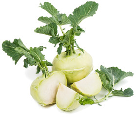 Kohlrabi, green vegetable