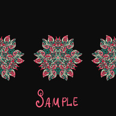 Ethnic paisley ornament. Abstract background