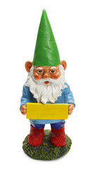 Gnome With Sign