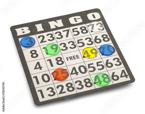 Leinwanddruck Bild Bingo