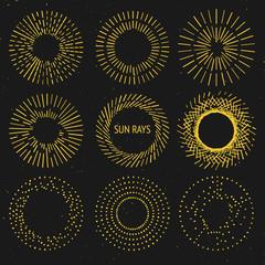 Sun rays set