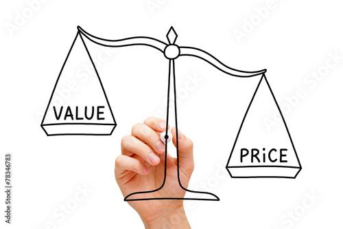 Fototapeta Price Value Scale Concept