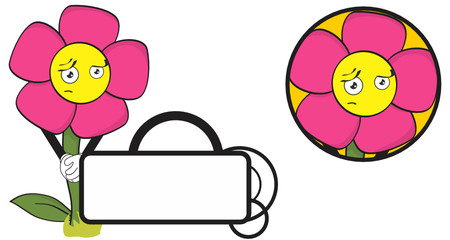 flower funny cartoon expression copyspace