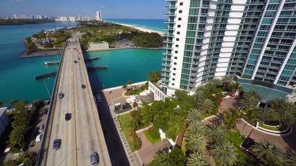 Aerial video footage Bal Harbour 4k