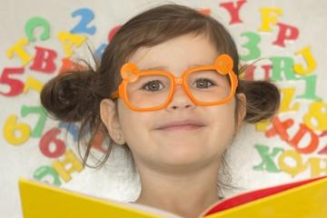 Preschooler is Reading