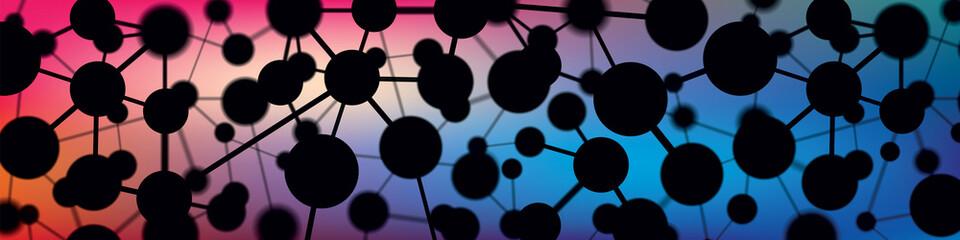 Abstract background, molecule, microcosm, vector design