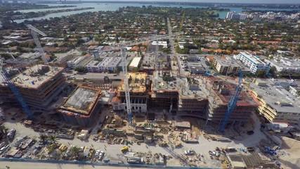 Miami Beach construction site 4k