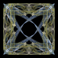 Abstract symmetrical fractal texture. Complex threads structure.