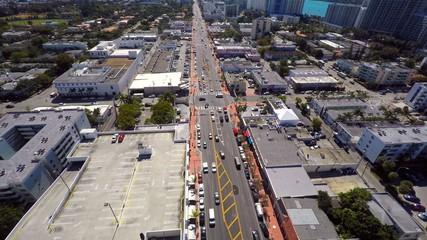 Alton Road Miami Beach aerial video footage