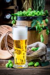 Cellar full of fresh beer