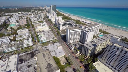 Aerial panorama of Miami Beach FL