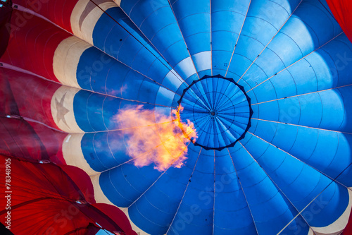 Papiers peints Montgolfière / Dirigeable Inside of a hot air balloon with flame