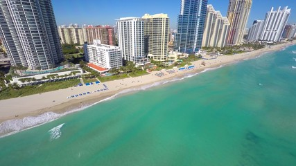 Coastal architecture aerial video