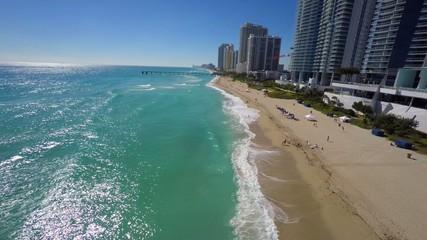 4k aerial video Beach