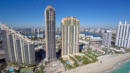 Beach FL aerial 4k video