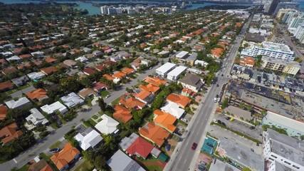 4k Residential neighborhood aerial video