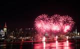 Fototapety Fireworks over Hudson River