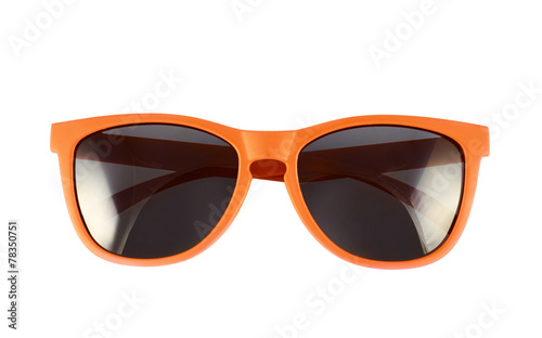 canvas print picture Orange sun glasses isolated