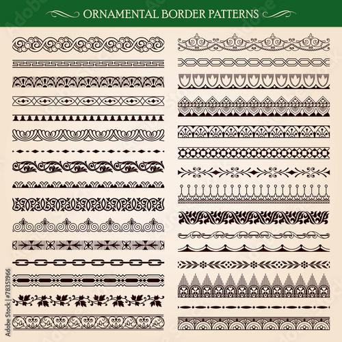 Zdjęcia na płótnie, fototapety, obrazy : Ornamental border frame patterns vector
