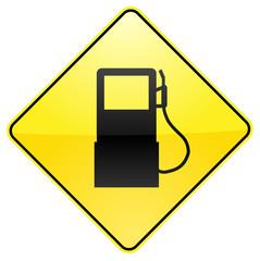 Gasoline traffic sign image