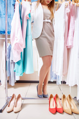 Choosing clothes and shoes